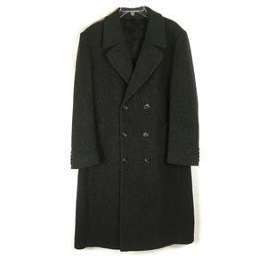 London Fog Charcoal Gray Long Coat 100% Wool 40R